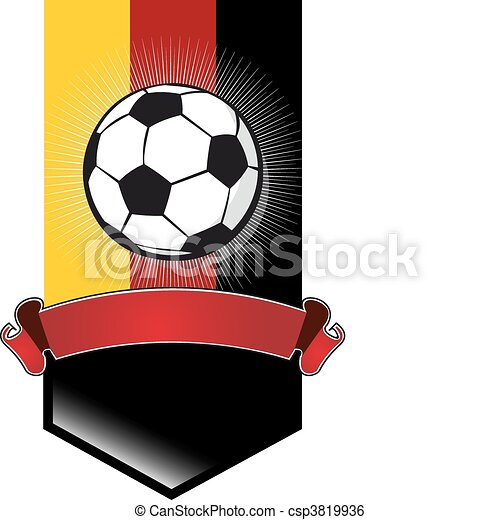 Clip Art Vector of Germany Soccer Championship banner ...