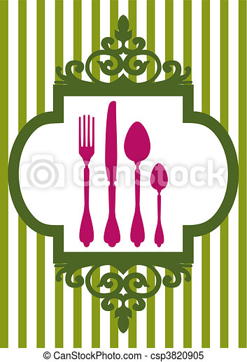 Clipart Vector of Vector menu of restaurant card - Dinner design ...