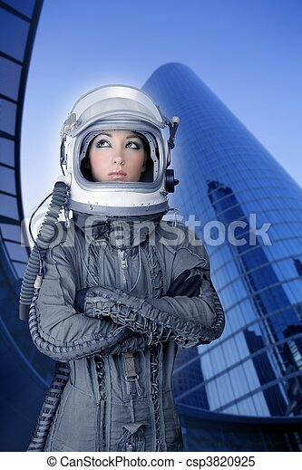 aircraft  astronaut spaceship helmet woman fashion - csp3820925