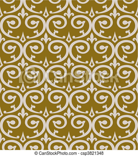 Curl seamless pattern - csp3821348