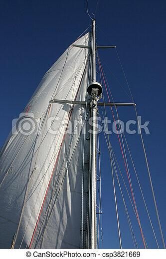 Sailing in Antarctica with cloudless sky - csp3821669