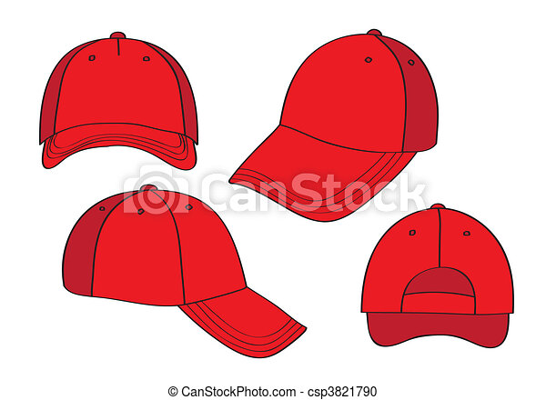 Blank Red Caps - csp3821790