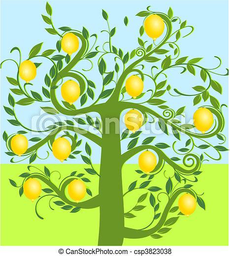 Lemon Tree Artwork Vector Lemon Tree