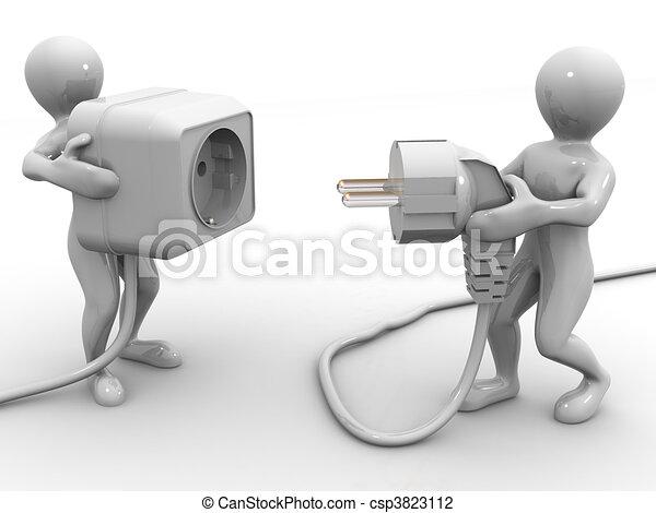 Plug and socket - csp3823112