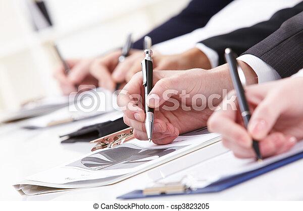 scritto, lavoro - csp3823205