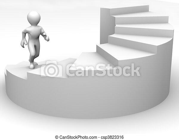 Men on stairs - csp3823316