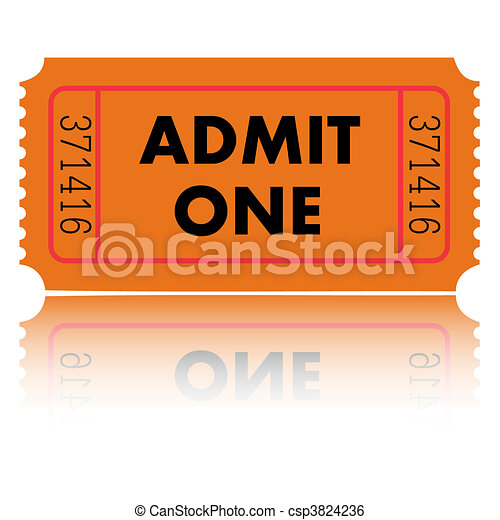 Admit One Ticket - csp3824236