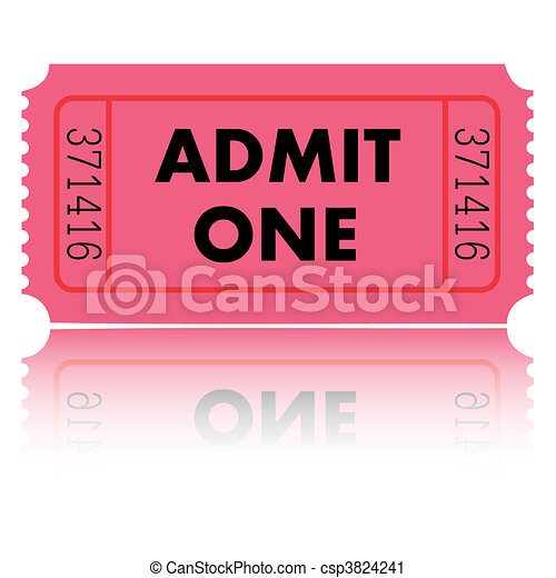 Admit One Ticket - csp3824241