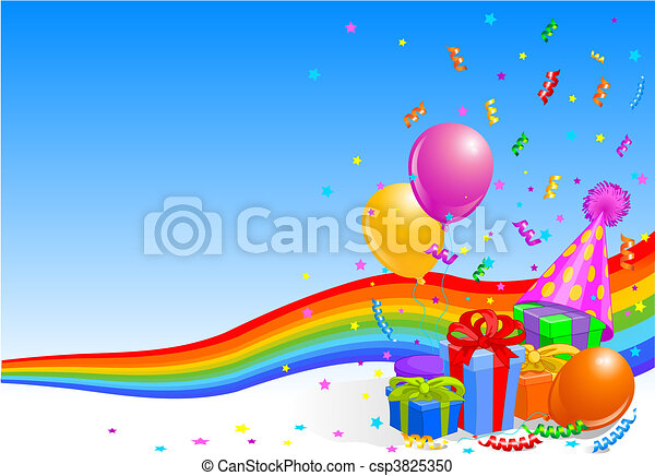 Birthday party background - csp3825350