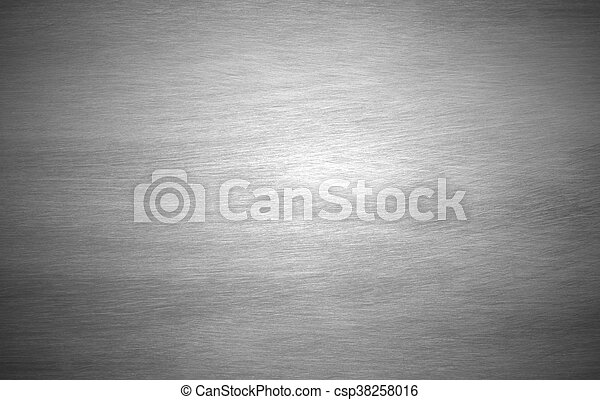 Sheet metal silver solid black background - csp38258016