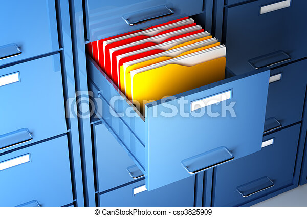 file cabinet and folder - csp3825909