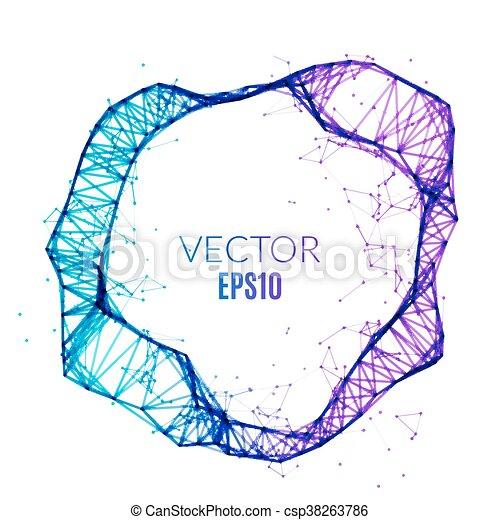 Abstract technology polygonal circle. Futuristic network concept. Creative banner - csp38263786