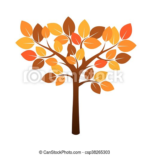 clipart vecteur de illustration couleur arbre automne leafs vecteur csp38265303. Black Bedroom Furniture Sets. Home Design Ideas