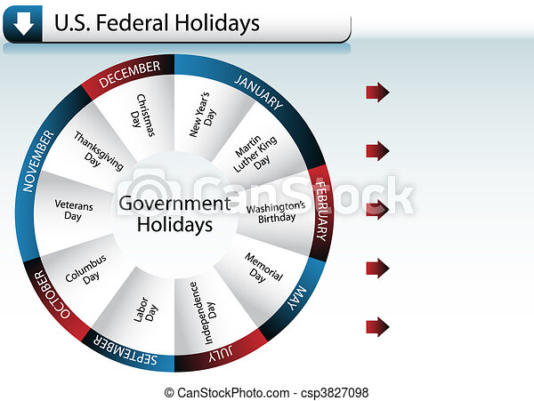 US Federal Government Holidays - csp3827098