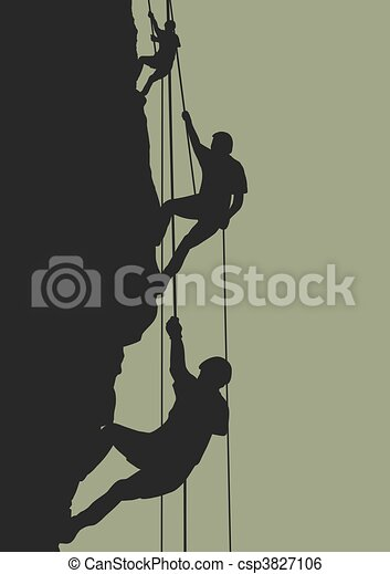 Rock climbing team - csp3827106