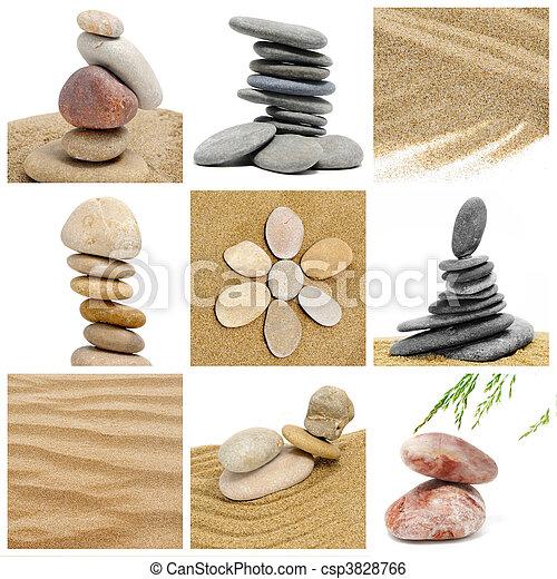 Stock de imagenes de piedras collage zen un collage for Fotos piedras zen