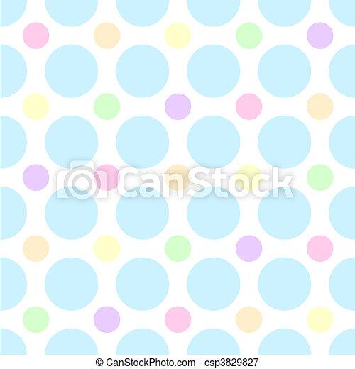 Pastel Polka Dots - csp3829827