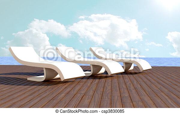 Chaise longue Resort - csp3830085
