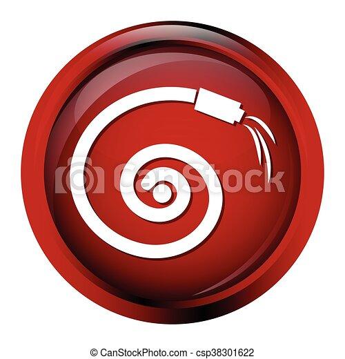 Hose icon, garden hose icon - csp38301622