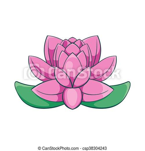 vecteur eps de rose style fleur lotus ic ne dessin anim ic ne csp38304243. Black Bedroom Furniture Sets. Home Design Ideas