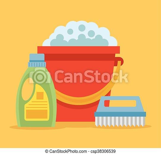 vektoren von wohnung karikatur putzen ikone cleaning wohnung csp38306539 suchen sie. Black Bedroom Furniture Sets. Home Design Ideas