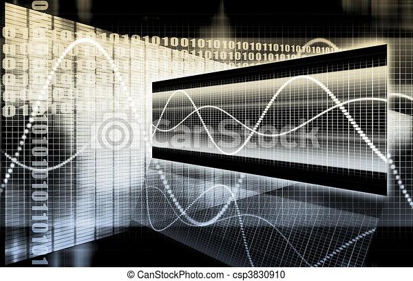 Finance Spreadsheet Tech Graph - csp3830910