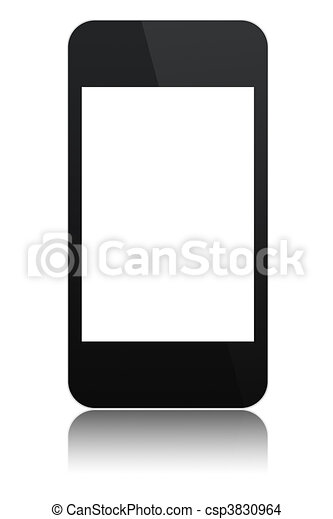 modern abstract touchscreen phone isolated - csp3830964