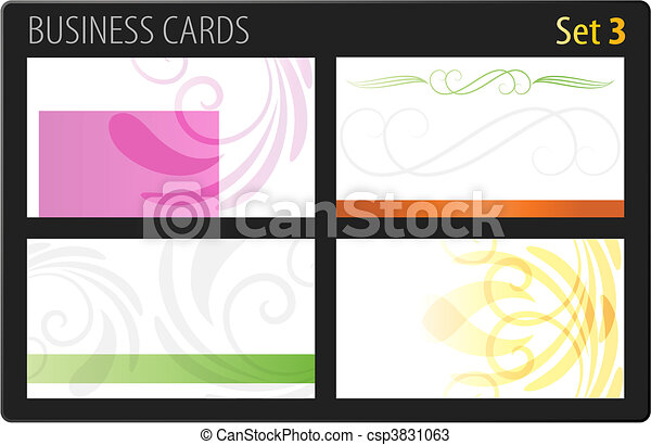 Business cards template - csp3831063