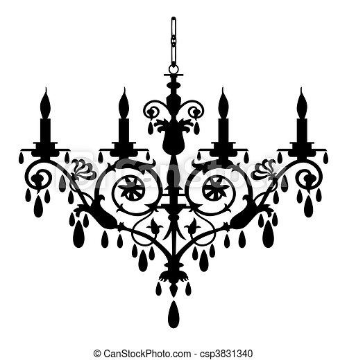 Chandelier vector illustration - csp3831340