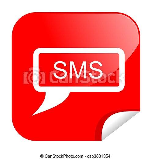 button sms - csp3831354