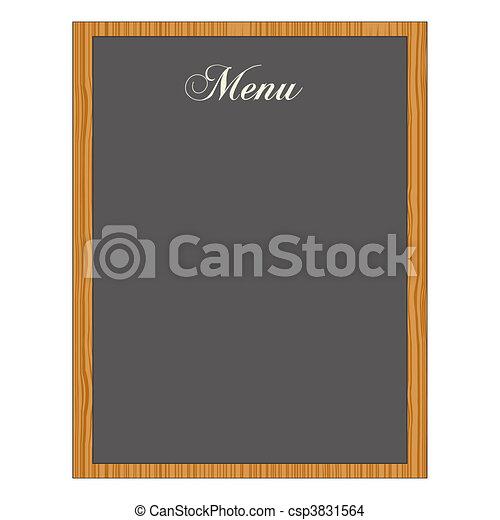 Menu Chalkboard - csp3831564