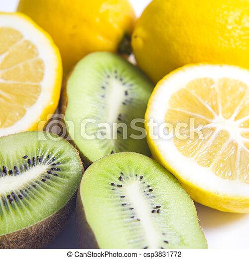 citrus fruit Kiwi fruit and lemon