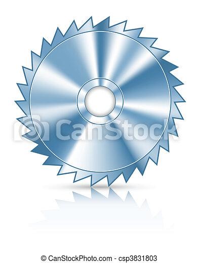 blade circular saw for cutting wood - csp3831803