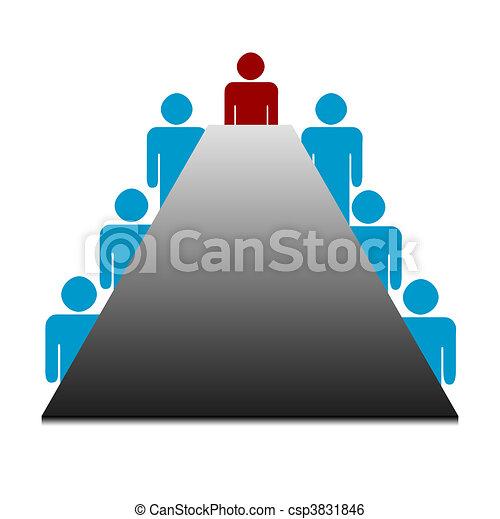 Business boardroom meeting - csp3831846
