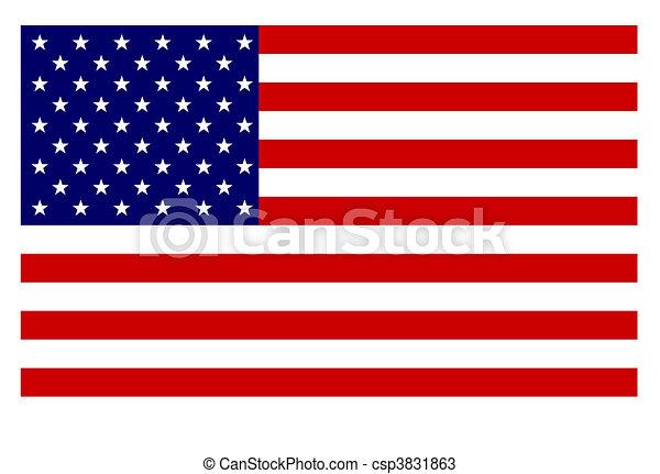 American flag - csp3831863