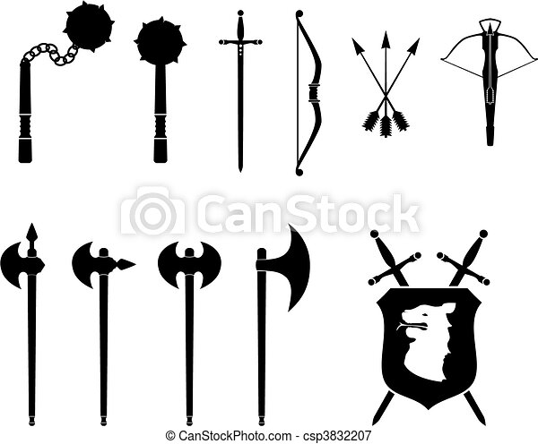 Medieval Weapons Set - csp3832207