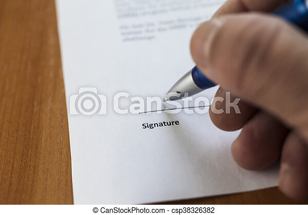 The place for the signature on the important document