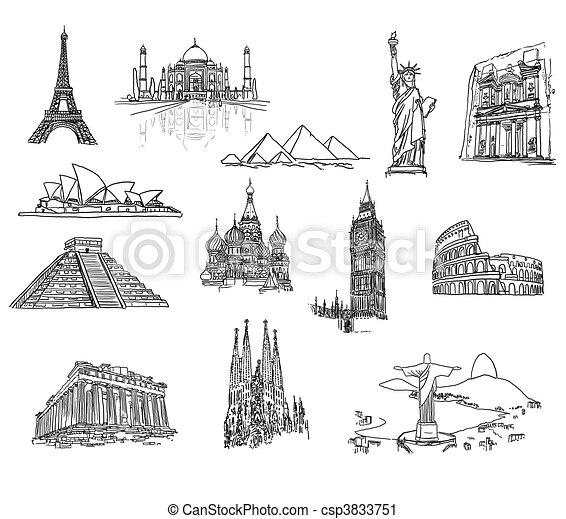 World\'s architectures - csp3833751