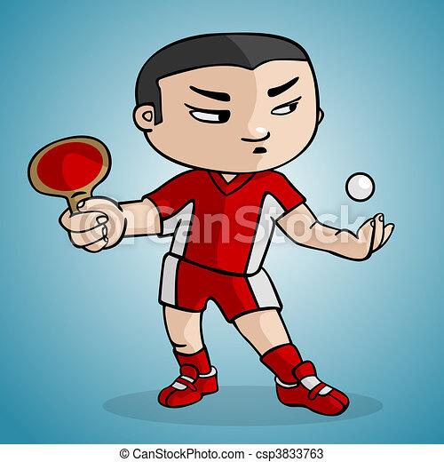 ping, pong, joueur - csp3833763