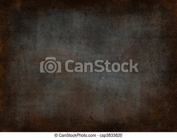 Metal rust background - csp3833820