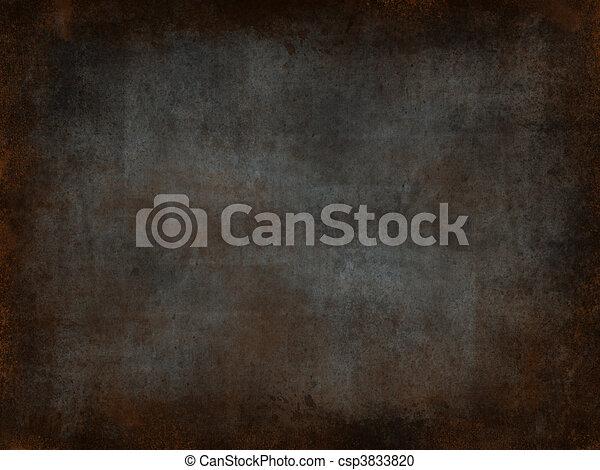 Metal rust background - csp3833820