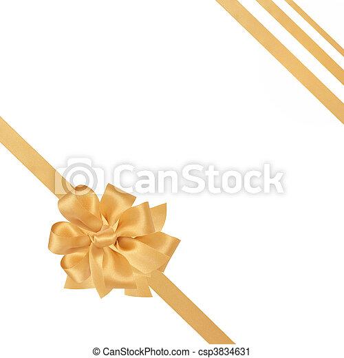 Gold Ribbon and Bow - csp3834631