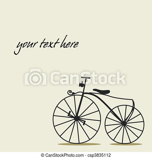 Simple background with a bicycle  - csp3835112