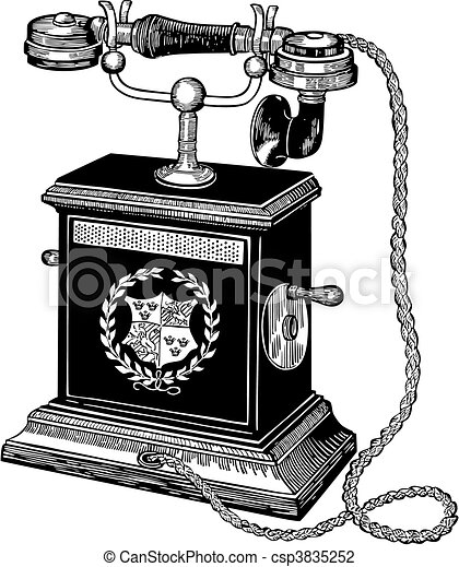 Vector Illustration of Antique telephone - Vector illustration of ...