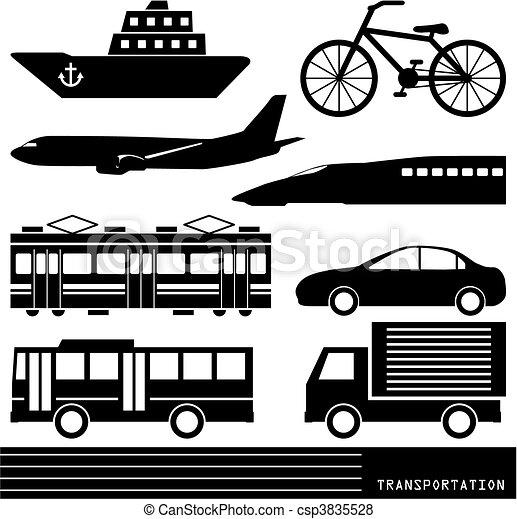 Transportation silhouette - csp3835528
