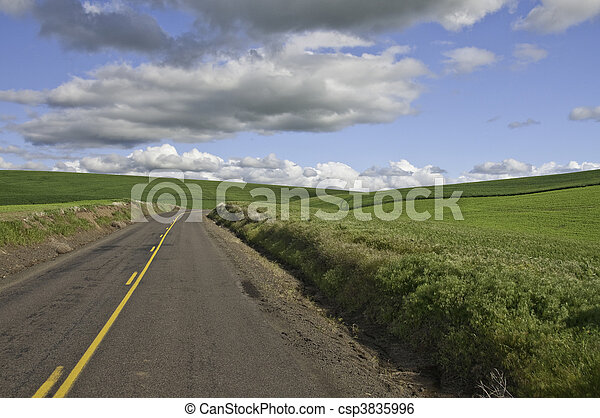 Road turning right - csp3835996