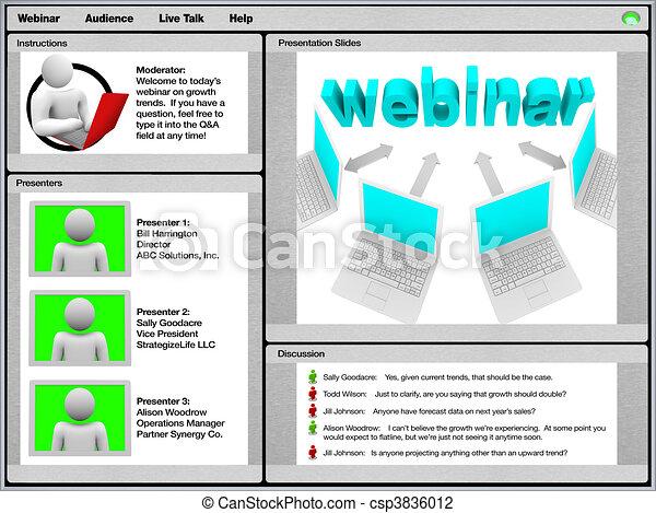 Webinar - Sample Screen Shot - csp3836012
