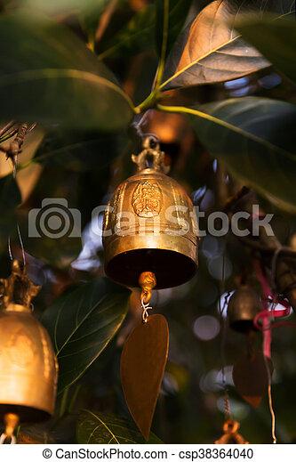 Famous Big Buddha wish bells, Phuket, Thailand - csp38364040