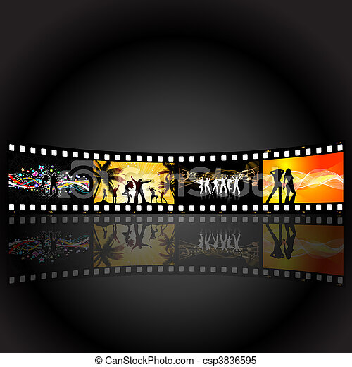 film strip party people - csp3836595