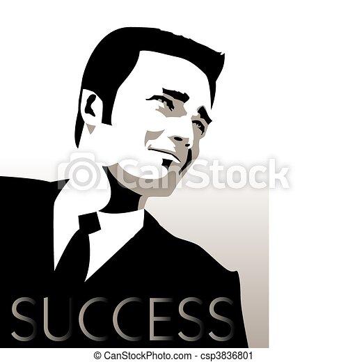 businessman in a suit - csp3836801
